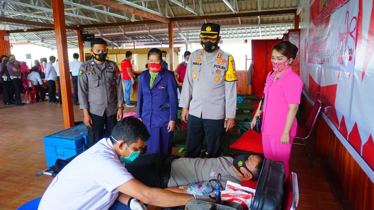 Peringati HUT Bhayangkara, Polres Mamasa Gelar Donor Darah