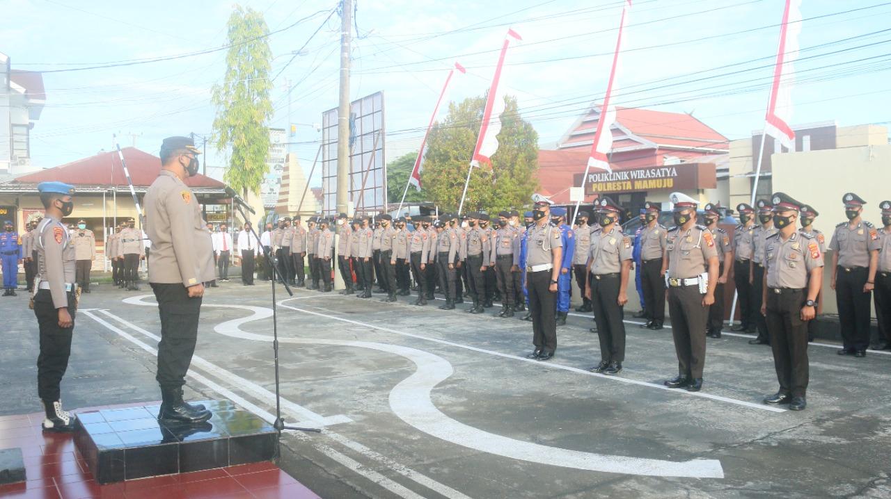 19 Personil Polresta Mamuju Naik Pangkat di Hari Bhayangkara Ke-75