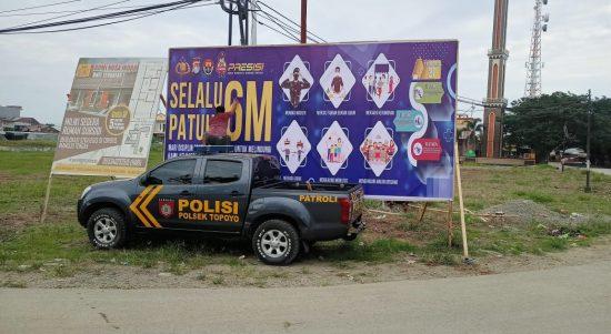 Polres Mamuju Tengah Sebar Himbauan Protokol Kesehatan 6M