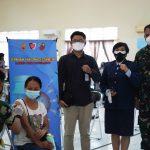 Serbuan Vaksinasi Dosis Kedua di Lanud Sam Ratulangi Manado
