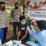 Tinjau Pelaksanaan Vaksinasi, Kapolres Mateng Sampaikan Prokes