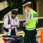 Polres Majene Gelorakan Disiplin Berlalu Lintas dan Tertib Prokes