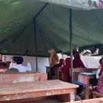 Pantau Proses PTM, Ombudsman Sulbar Masih Menemukan Pembelajaran di Bawah Tenda Darurat