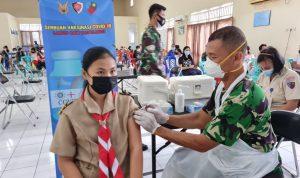 Generasi Milenial Dominasi Serbuan Vaksinasi di Lanud Sam Ratulangi Manado