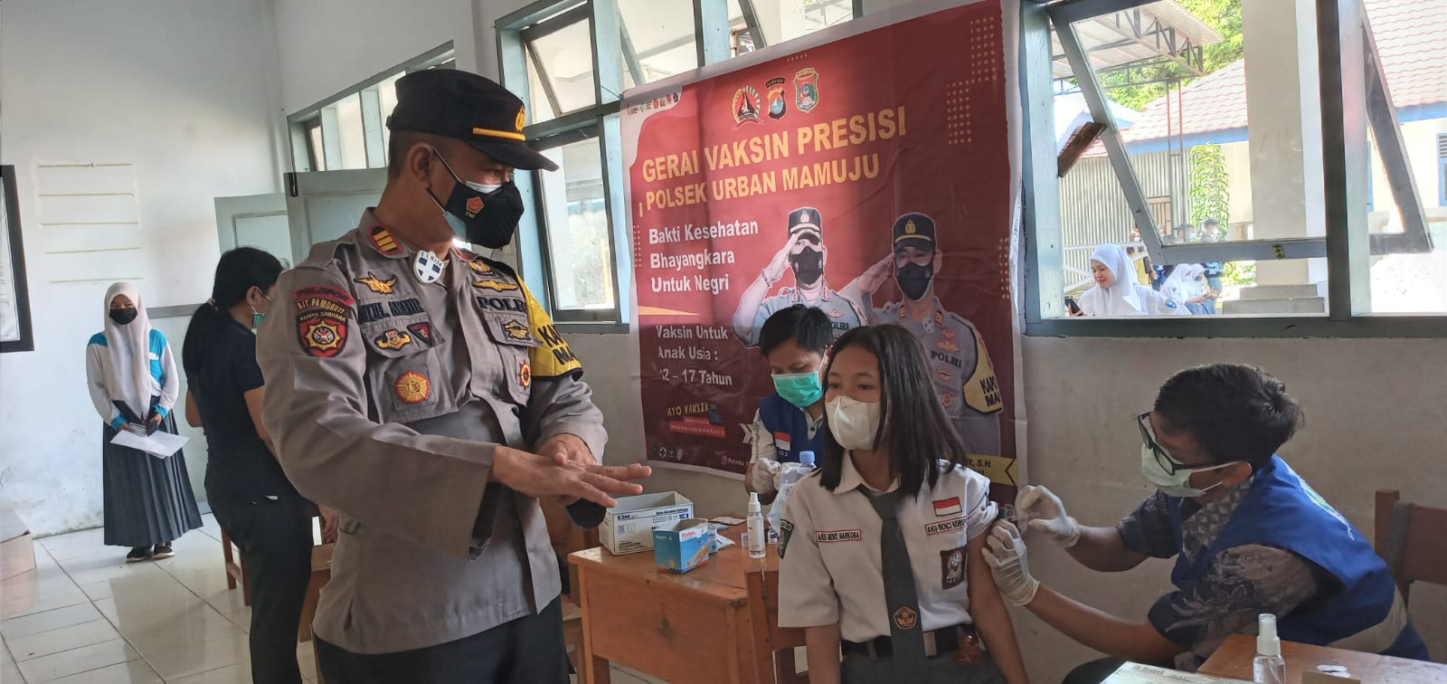 Polresta Mamuju Terus Sasar Vaksinasi Siswa Sekolah