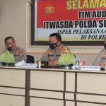 Tim Itwasda Polda Sulbar Kunjungi Polresta Mamuju