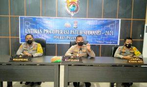 Kapolres Pasangkayu Pimpin Lat Pra Ops Patuh Siamasei 2021