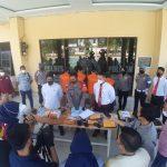 Polres Polman Press Release Kasus Tindak Pidana Penipuan Online