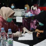 Gerai Vaksin Presisi Polres Polman di Alun-Alun Kota Polewali