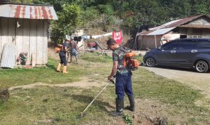 Babinpotdirga Lanud Sam Ratulangi Pimpin Warga Tasuka Bersih Bersih